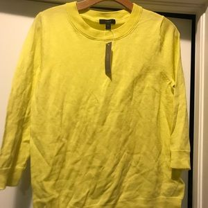 J. Crew Tippi merino wool sweater yellow M New